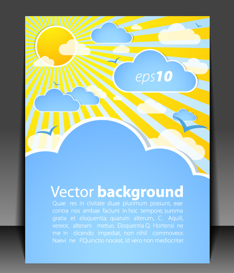 free vector Weather effects card 01 vector