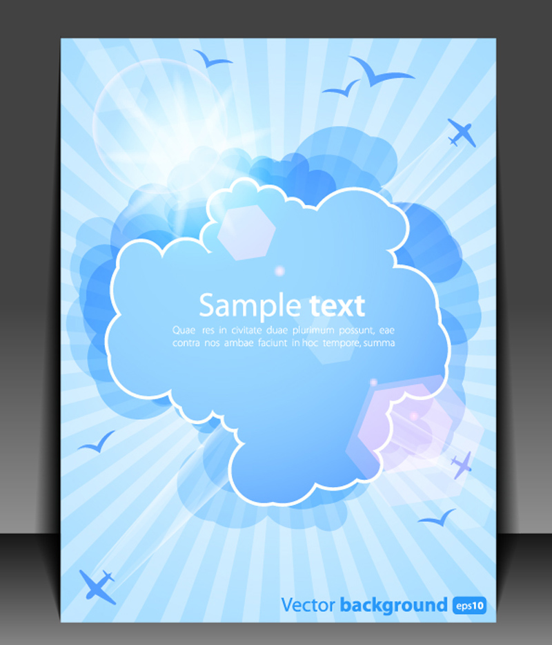 free vector Weather effects card 02 vector