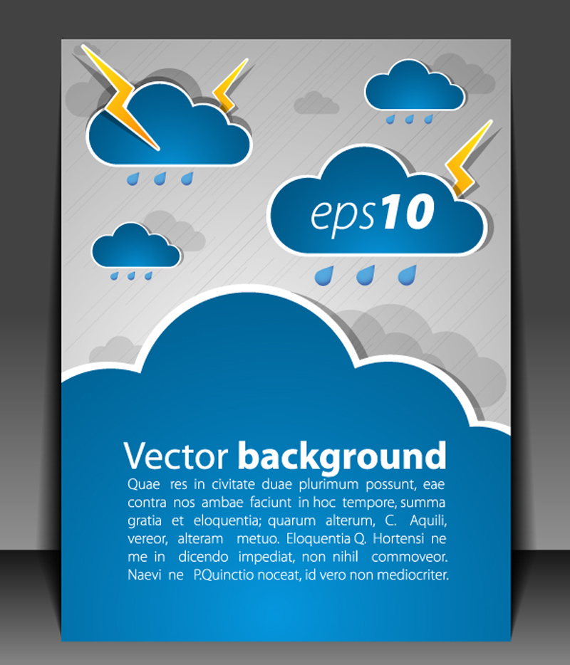 free vector Weather effects card 03 vector