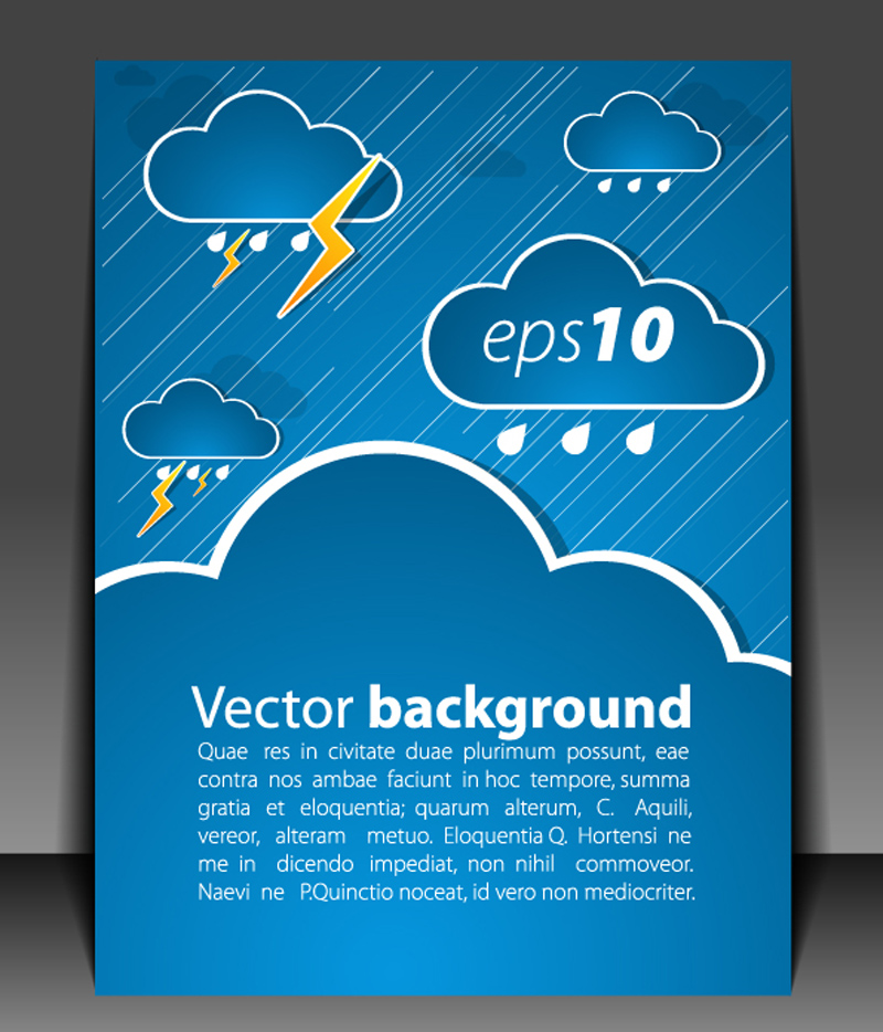 free vector Weather effects card 05 vector