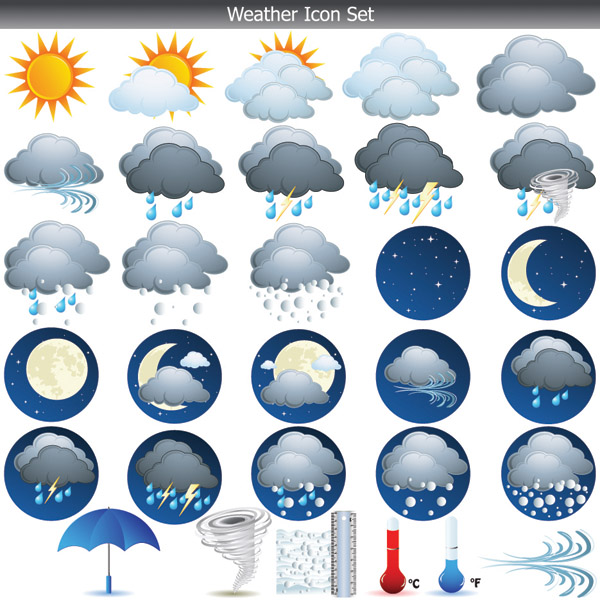 free vector Weather icon vector
