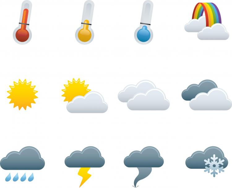 free vector Weather icons vector 19544