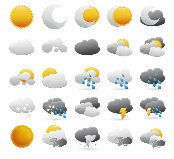 free vector Weather Icons Vector Graphic