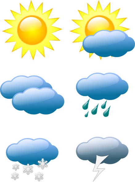 free vector Weather Symbols clip art