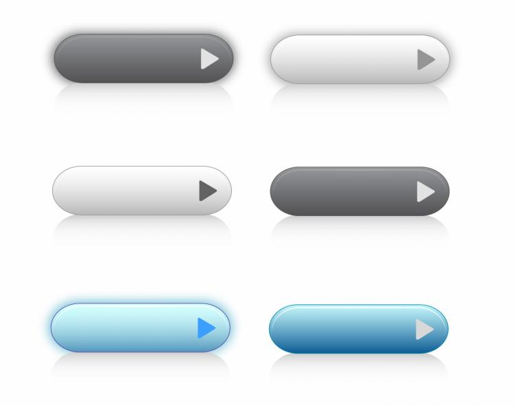 free vector Web 2.0 buttons