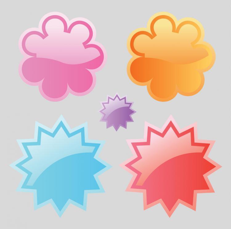 free vector Web Badges