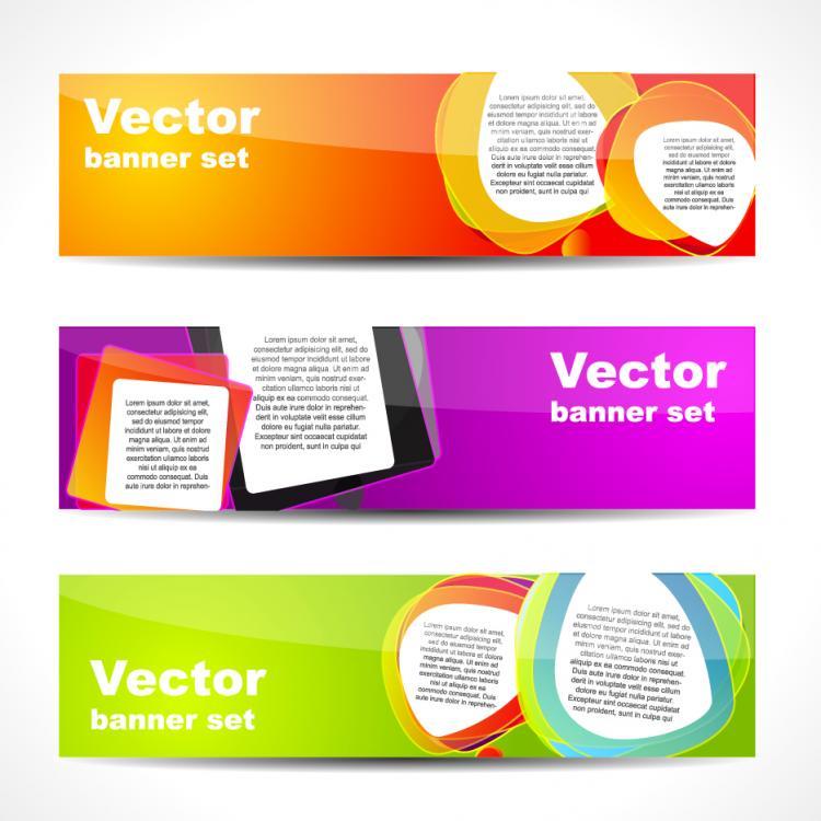 free vector Web banner boutique 02 vector