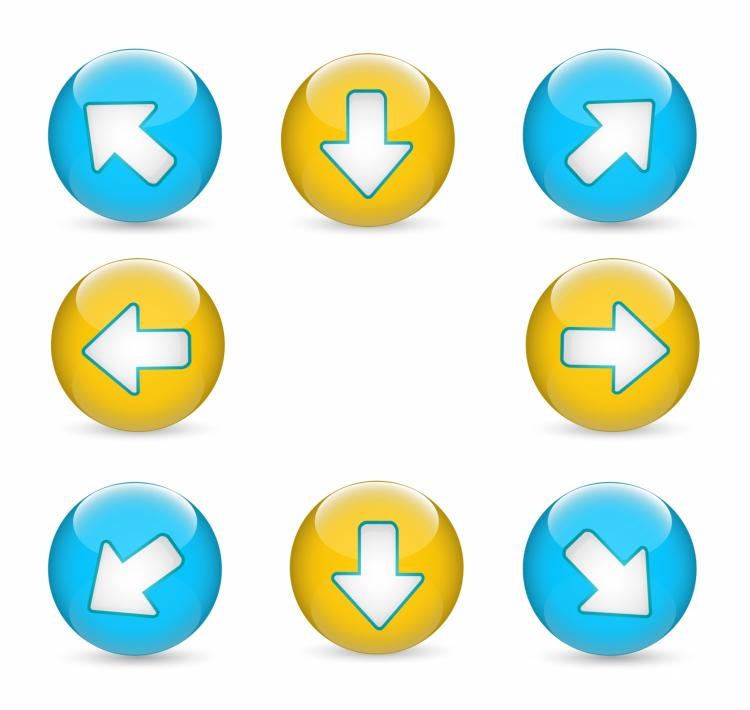 free vector Web buttons | arrows