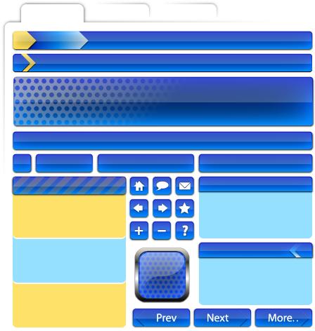 free vector Web Design material - decoration, buttons, navigation-2