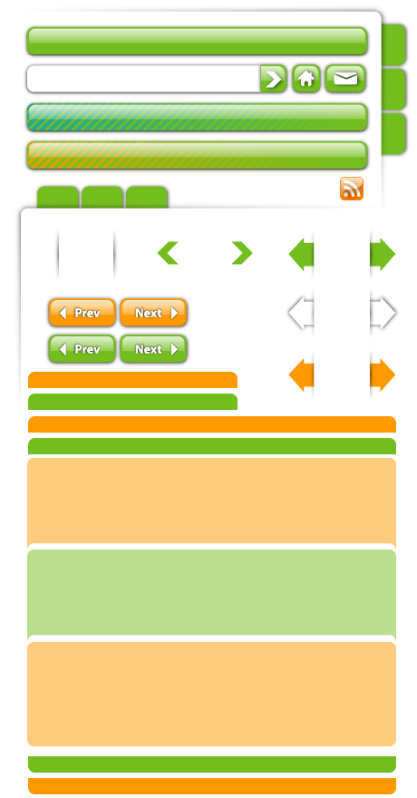 free vector Web Design material - decoration, buttons, navigation