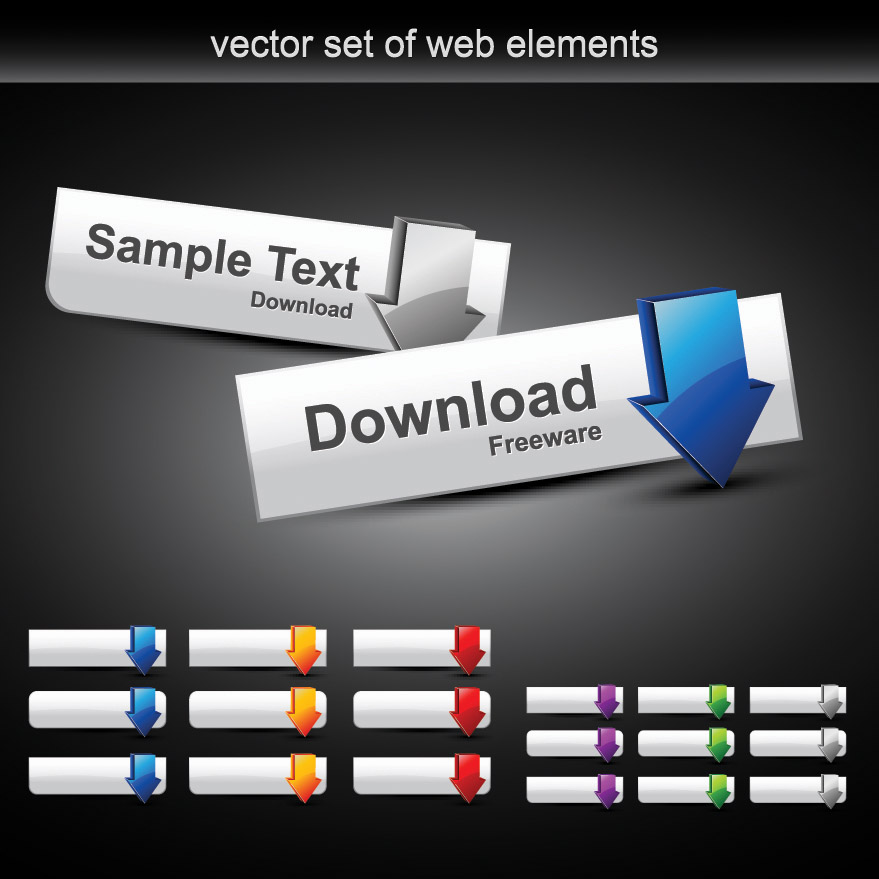 free vector Web design module button vector