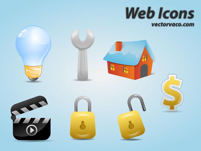 free vector Web Icons Vector by vectorvaco.com