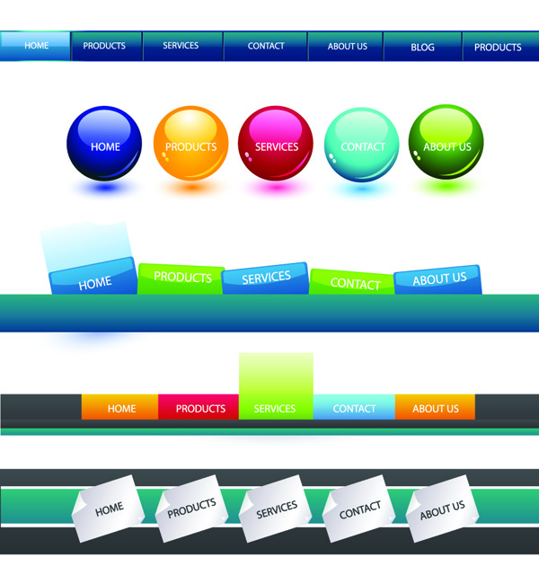 free vector Web navigation button to search box vector