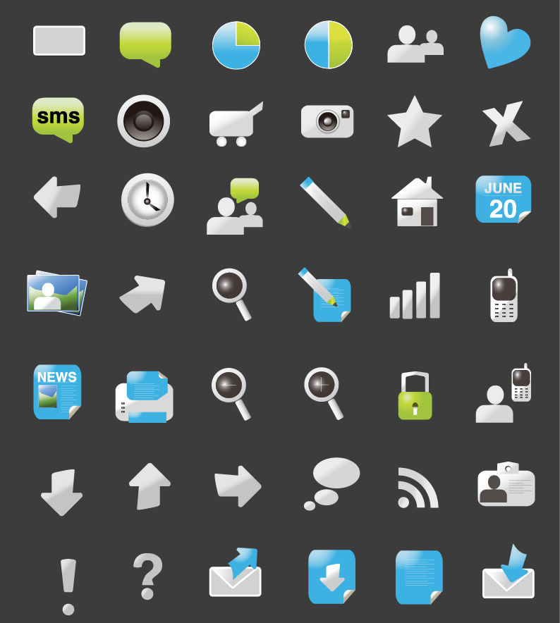 free vector Website Element Icons for Web Design