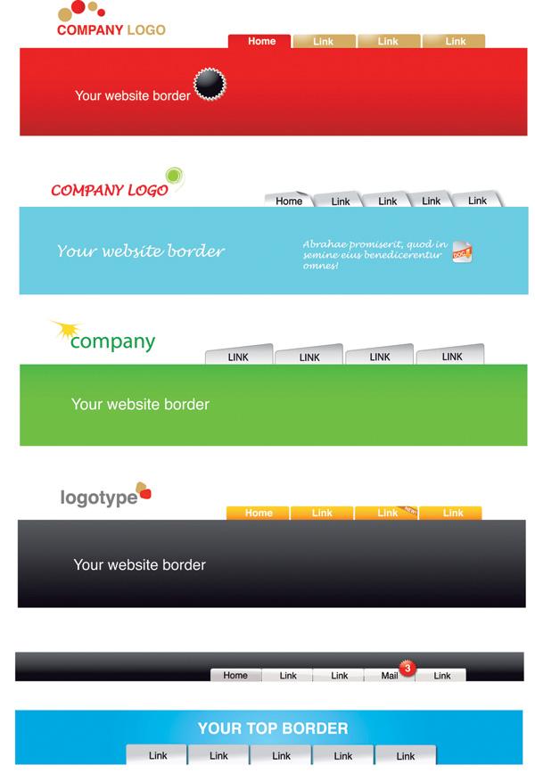 free vector Website header template vector