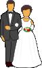 free vector Wedding Couple clip art