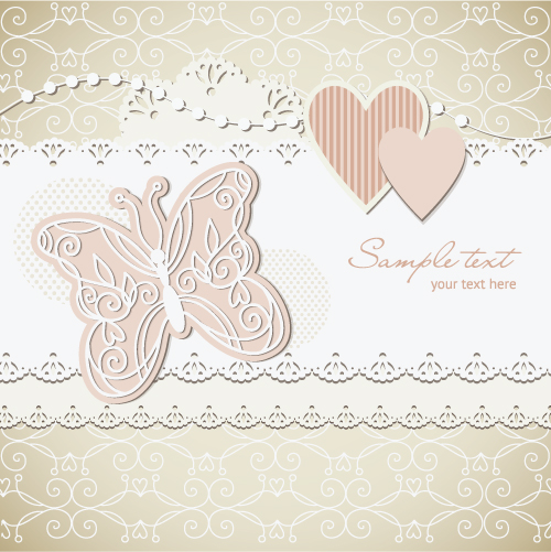 Free Vector Wedding Label Background 03