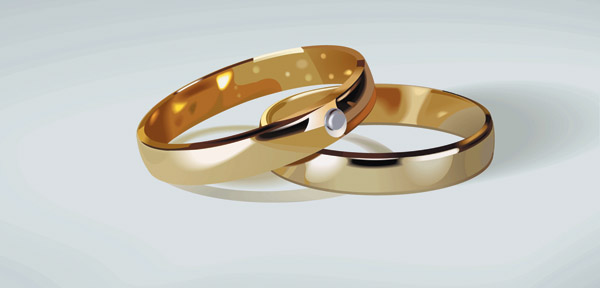 free vector wedding ring clip art 1 - Free Wedding Rings