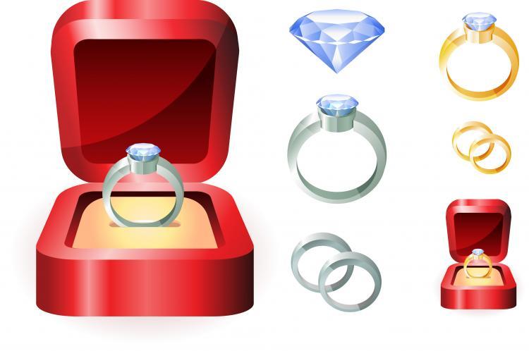 Wedding ring clip art Free Vector 4Vector