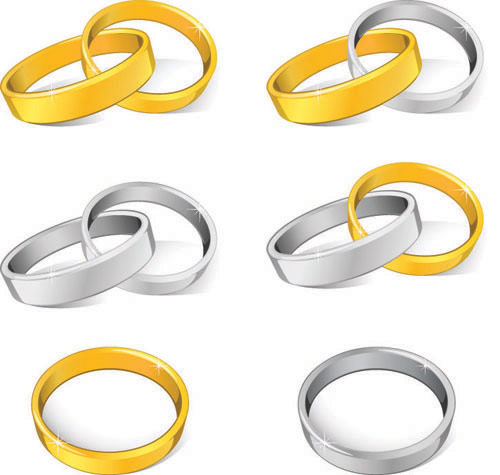 free vector Wedding Rings Vector