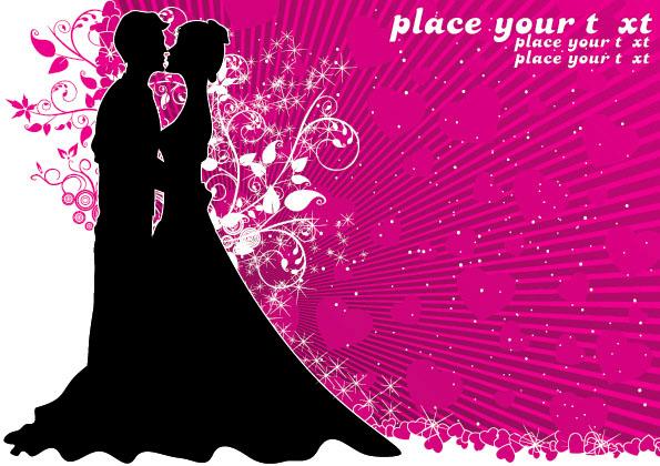 free vector Wedding theme vector
