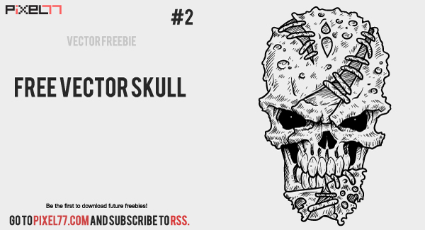 free vector Weekly Freebie #2: Vector Skull from Pixel77 & How Itâ??s Made