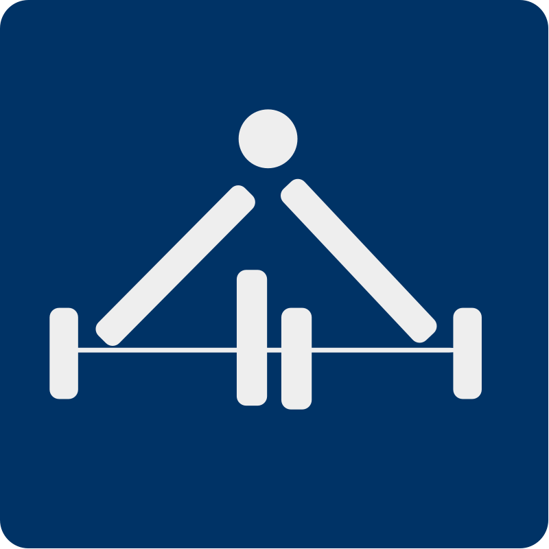 free vector Weight lifting pictogram