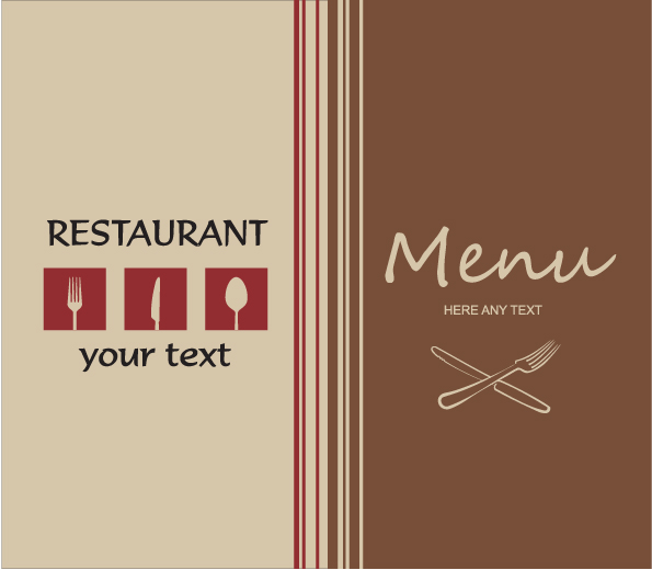 free vector Western menu background 01 vector