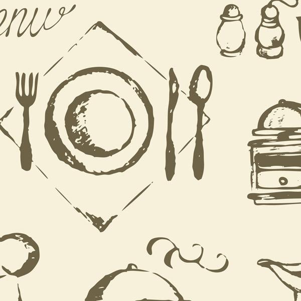free vector Western utensils vector