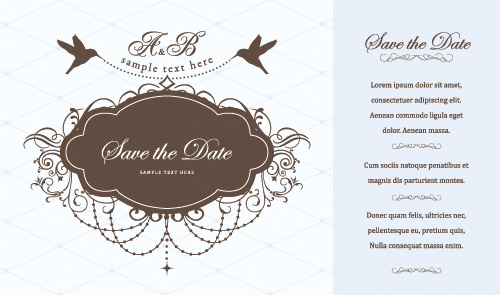 free vector Westernstyle wedding pattern vector