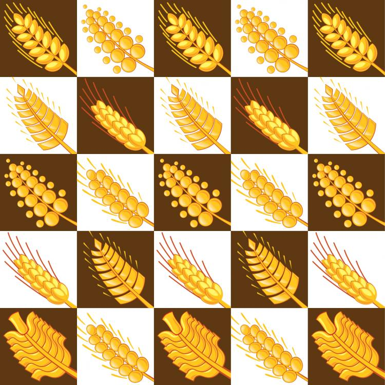 free vector Wheat pattern 03 vector
