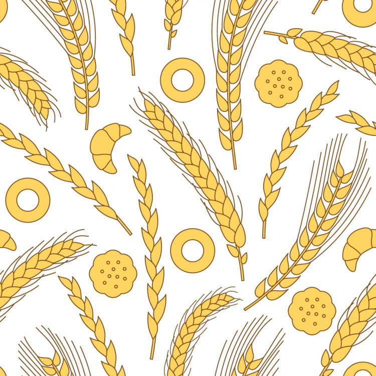 free vector Wheat pattern 05 vector