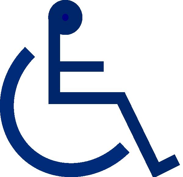 free vector Wheelchair Sign clip art