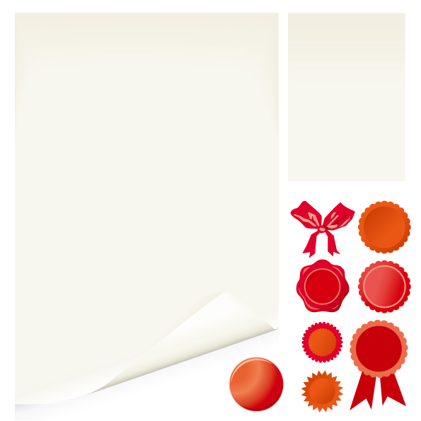 free vector White and medal roll angle vector