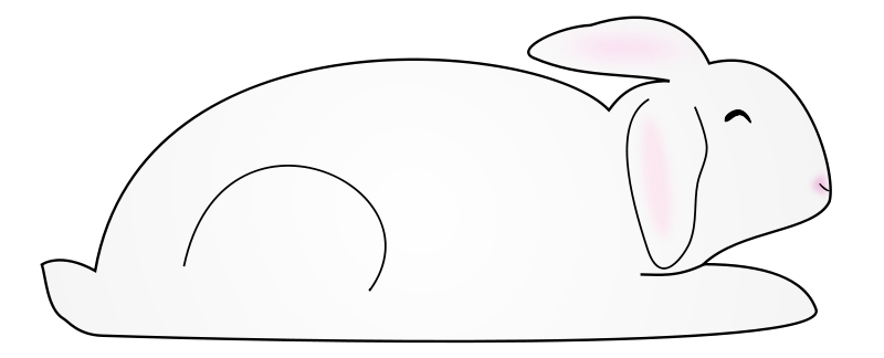 free vector White Bunny Rabbit