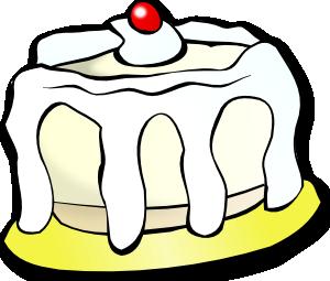 free vector White Cake clip art