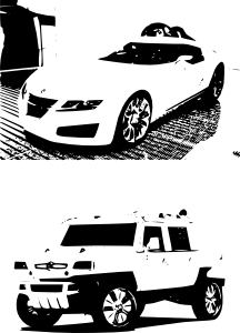 free vector White Cars clip art