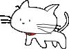 free vector White Cartoon Cat clip art 128481
