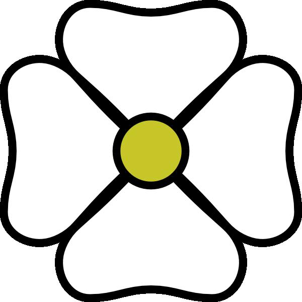free vector White Flower clip art