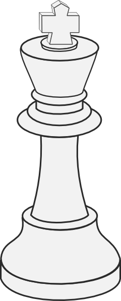 free vector White King Chess clip art