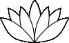 free vector White Lotus Flower clip art