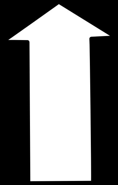 free vector White Outline Up Arrow clip art