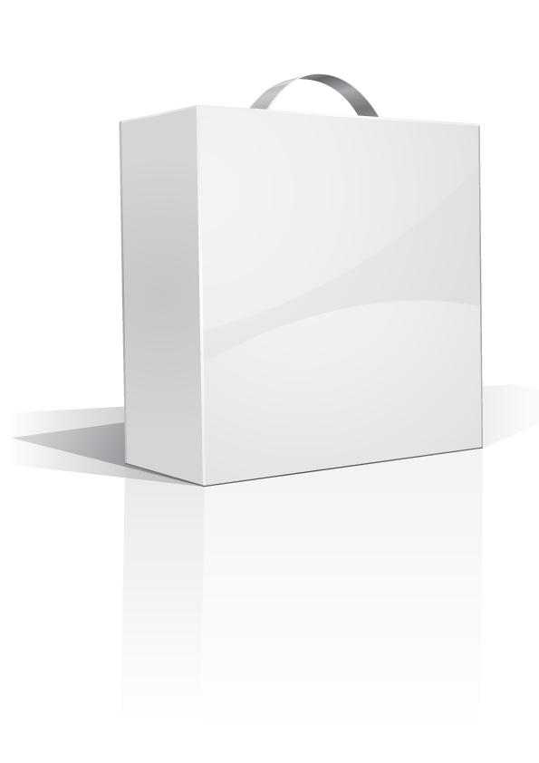 free vector White packing model 01 vector