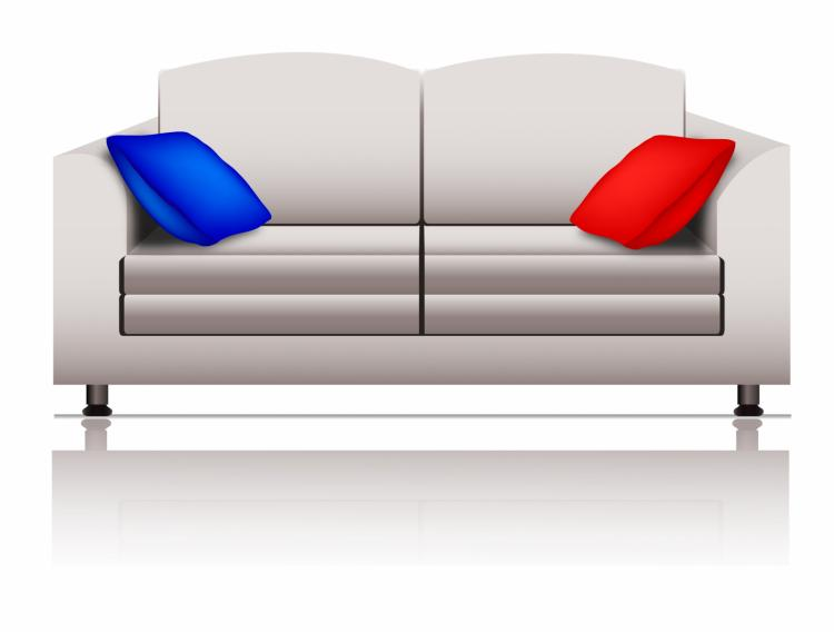 free vector White sofa
