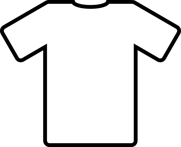 White T Shirt clip art Free Vector / 4Vector