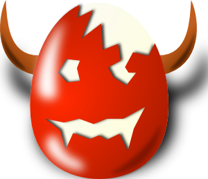 free vector Wicked Easter clip art