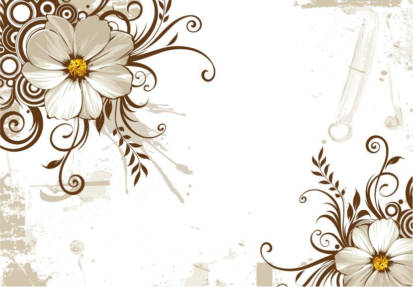 free vector Wild chrysanthemum and fashion pattern vector mat