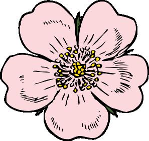 free vector Wild Rose clip art