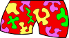 free vector Wild Summer Shorts clip art