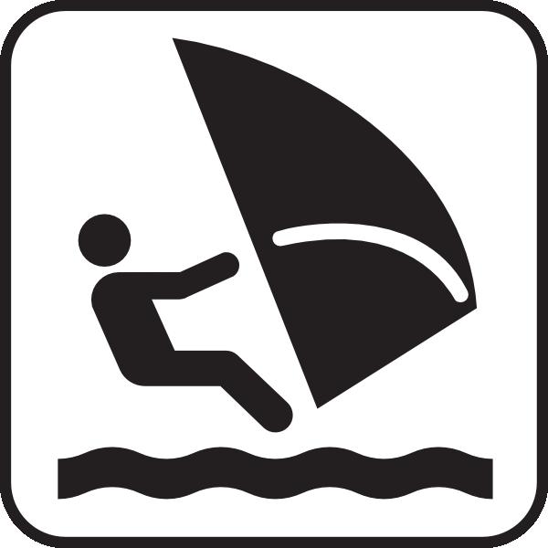free vector Wind Surfing clip art